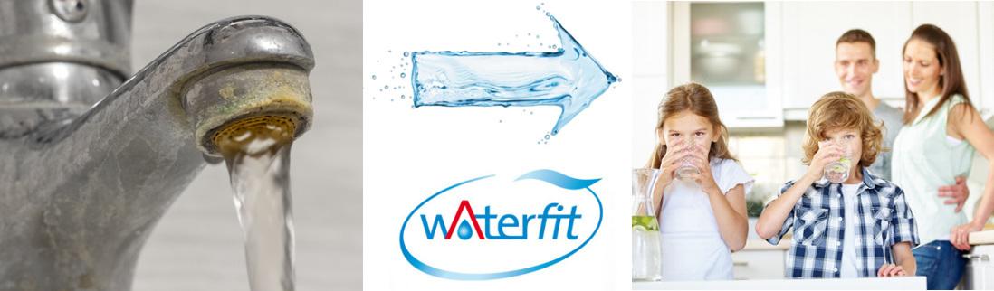Waterfit Wasseraufbereitung inklusive Lebensqualität und Wellness: links: ohne Waterfit, rechts: mit Waterfit